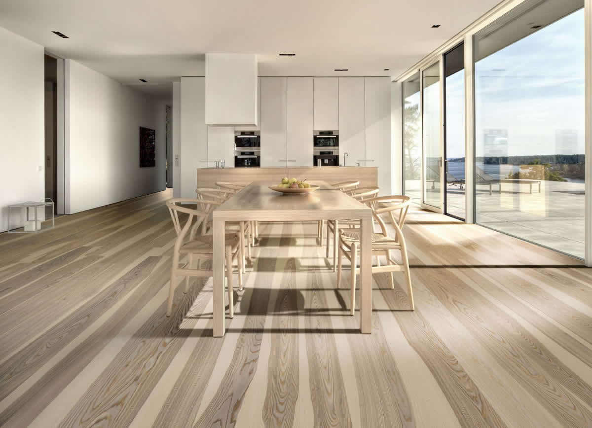 Wonderful image of White Kitchen Cabinets With Brazilian Cherry Wood Floor also White Ash  with #806A4C color and 1200x868 pixels