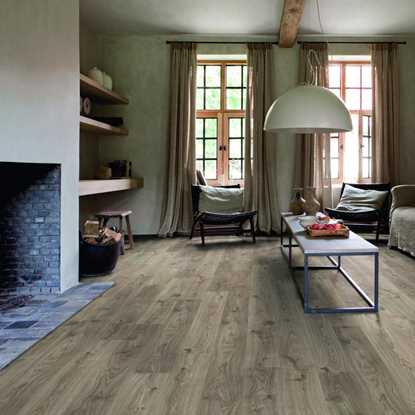 Quickstep Livyn Rigid Cottage Oak Dark Grey Vinyl Flooring
