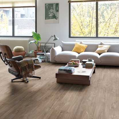 Quickstep Livyn Rigid Canyon Oak Dark Brown Vinyl Flooring