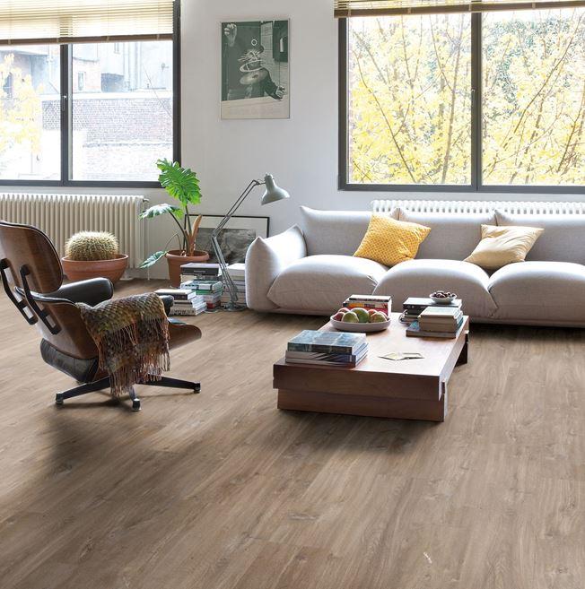 Quickstep Livyn Balance Canyon Oak Dark Brown Saw Cuts Vinyl Flooring