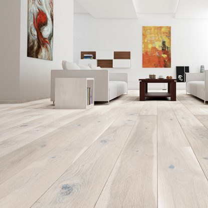 White Engineered Flooring