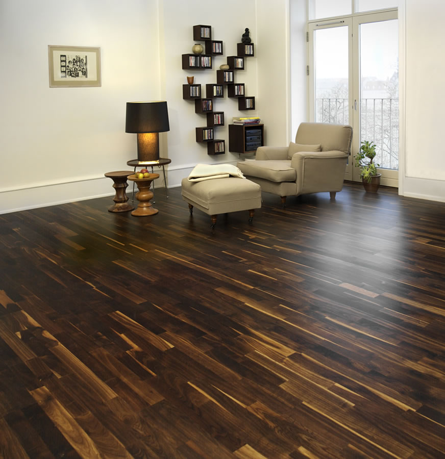 Junckers 14mm black oak variation solid wood flooring for Real solid wood flooring