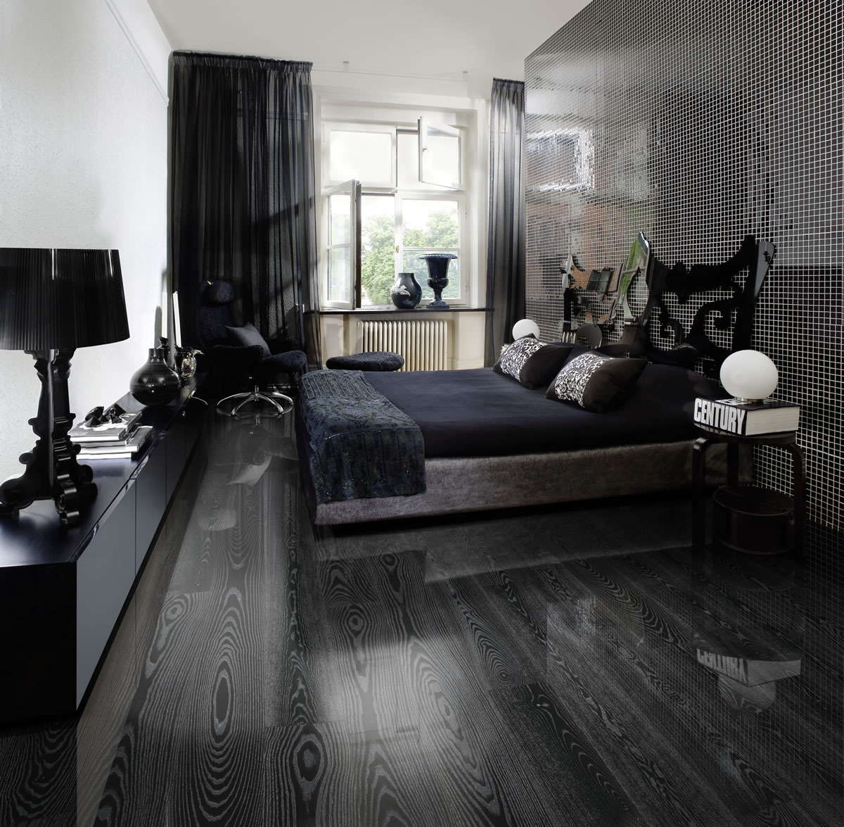 Kahrs ash black silver engineered wood flooring for New home flooring
