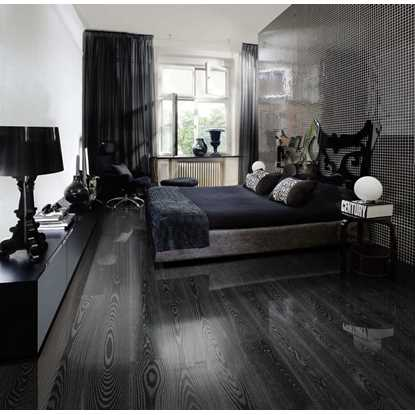 Kahrs Ash Black Silver Engineered Wood Flooring