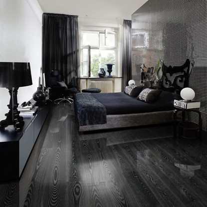 Kahrs Shine Ash Black Silver Engineered Wood Flooring