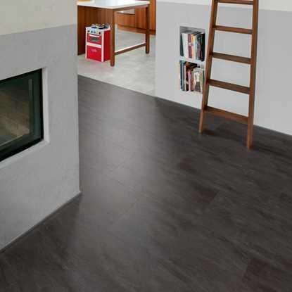 Tile and stone effect vinyl flooring for Black tile effect vinyl flooring