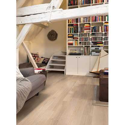 Quickstep Compact Oak Himalayan White Extra Matt COM3098 Engineered Wood Flooring