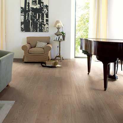 Quickstep Compact Oak Cobblestone Grey Extra Matt COM3107 Engineered Wood Flooring