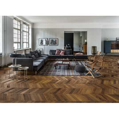 Kahrs Oak Chevron Dark Brown