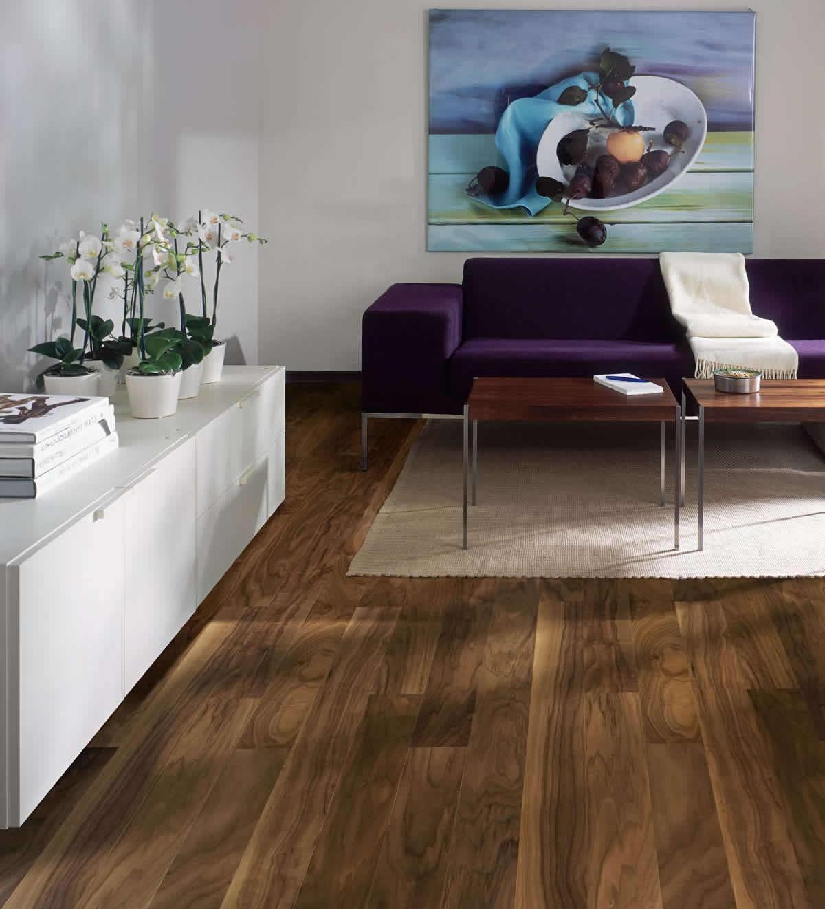 Kahrs walnut garden engineered wood flooring for Parquet flooring
