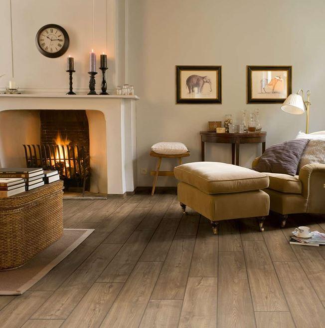 Quickstep Impressive Scraped Oak Grey Brown IM1850 Laminate Flooring