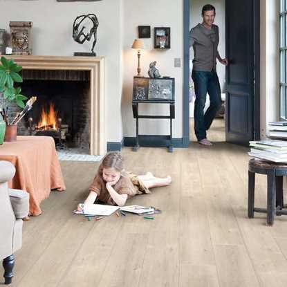 Quickstep Impressive Sawcut Oak Beige IM1857 Laminate Flooring