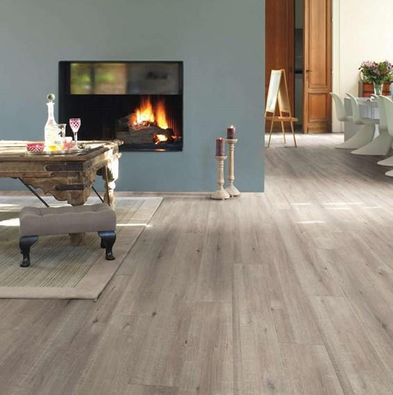 Quickstep impressive sawcut oak grey im1858 laminate flooring for Quick step laminate flooring uk