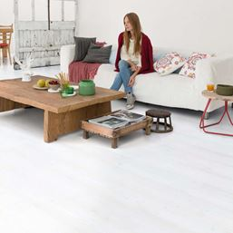 Quickstep Impressive White Planks IM1859 Laminate Flooring