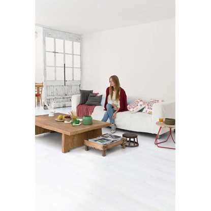 Quickstep Impressive White Planks IM1859 Laminate Flooring
