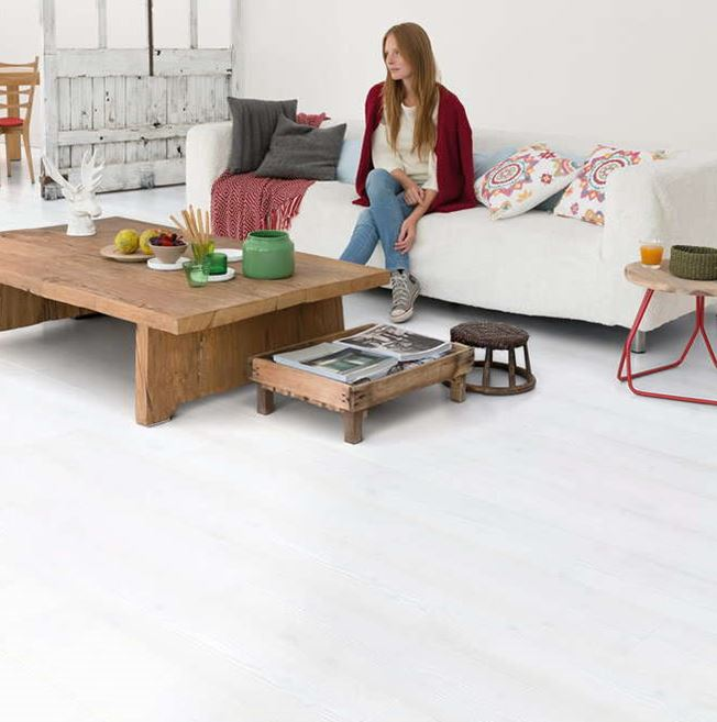 Quickstep Impressive Ultra White Planks IMU1859 Laminate Flooring