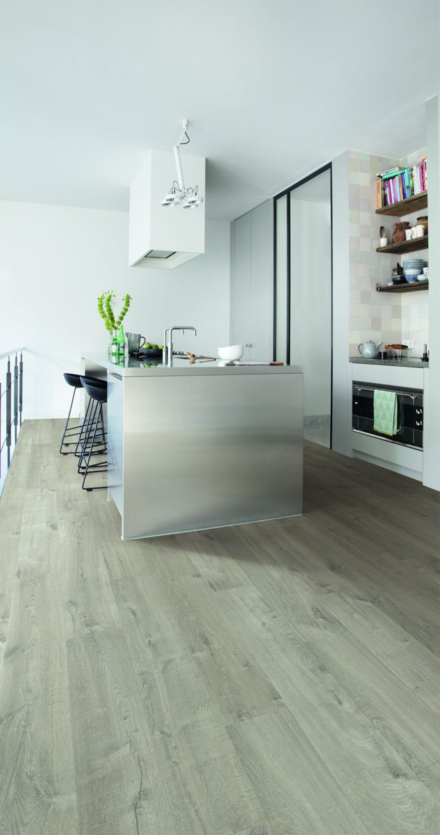 kitchen floor lights quickstep impressive soft oak light grey im3558 laminate 1646