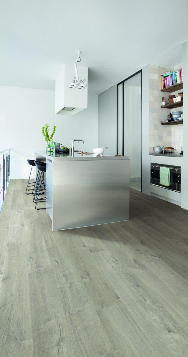 Quickstep Impressive Ultra Soft Oak, Green Laminate Flooring