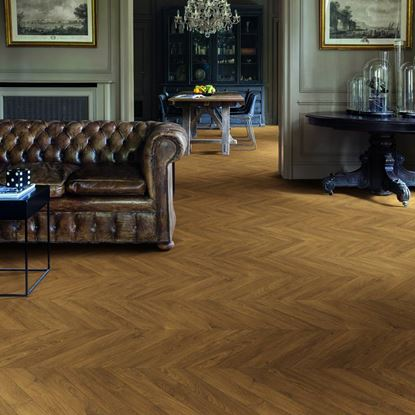 Quickstep Impressive Patterns Chevron Oak Brown IPA4162 Laminate Flooring