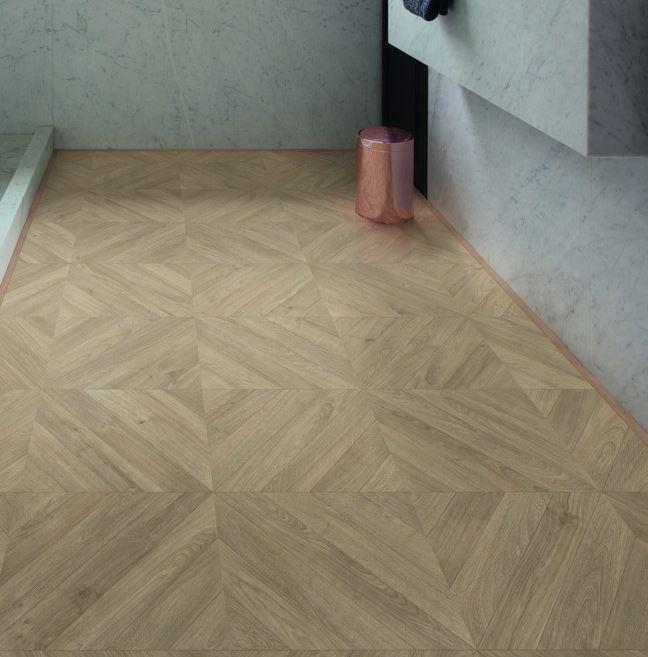 Quickstep Impressive Patterns Chevron Oak Taupe IPA4164 Laminate Flooring