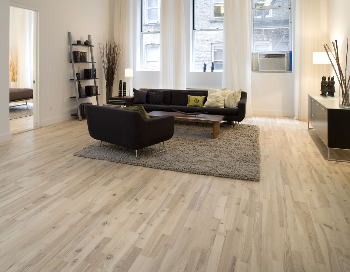 Junckers 14mm nordic ash variation solid wood flooring - Quelle couleur avec parquet chene clair ...