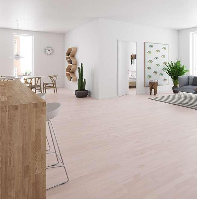 Junckers 14mm White Beech Harmony Solid Wood Flooring