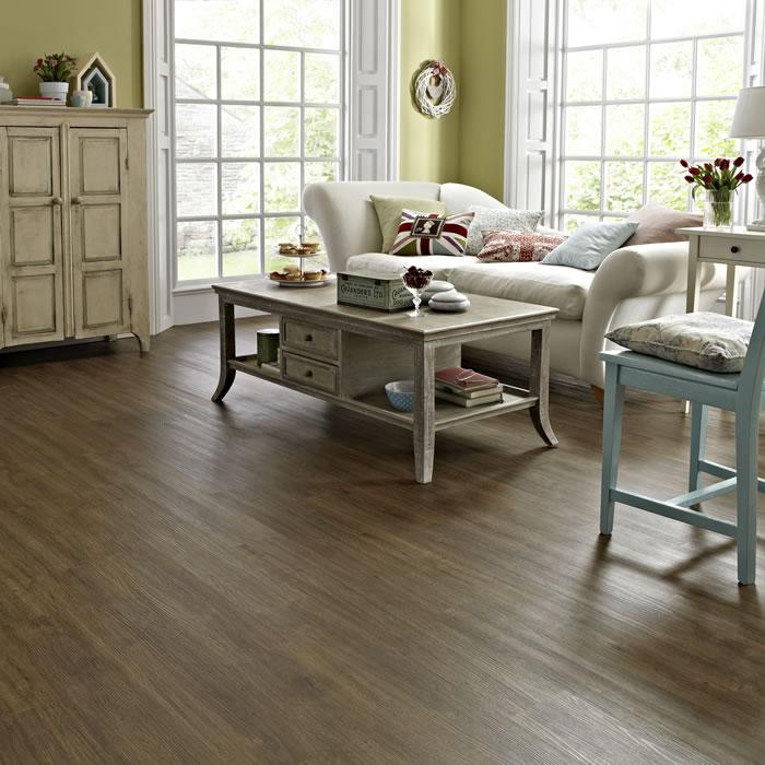 Living Room Floors: Karndean Knight Tile Mid Brushed Oak KP102 Vinyl Flooring