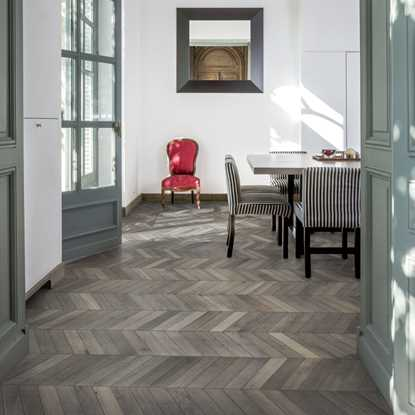 Kahrs Oak Chevron Grey Engineered Wood Flooring