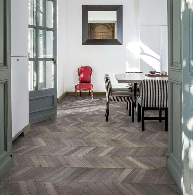 Kahrs Oak Chevron Grey Engineered Wood Flooring