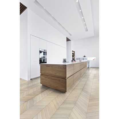 Kahrs Oak Chevron White Engineered Wood Flooring