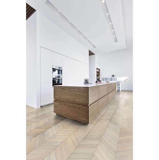 Kahrs Oak Chevron White Engineered Wood Flooring
