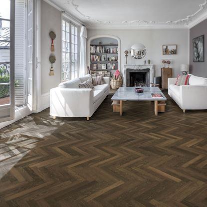 Kahrs Herringbone Oak Laholm Smoked Parquet Flooring