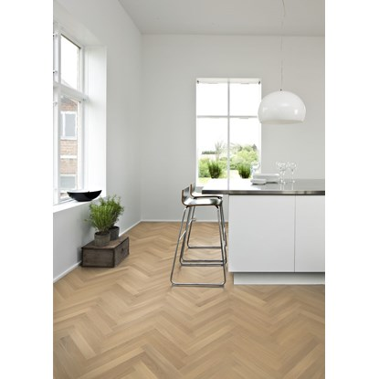 Kahrs Oak Herringbone AB White Engineered Wood Flooring