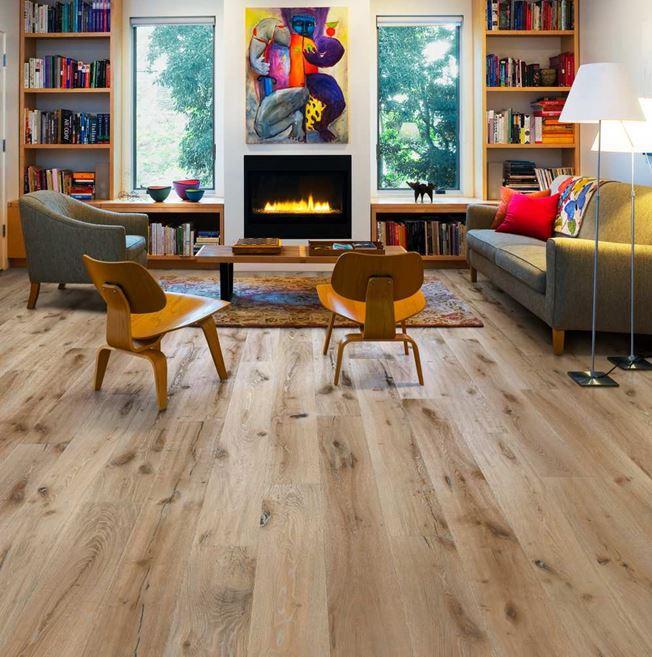 Kahrs Artisan Oak Lino Textured White Engineered Wood Flooring