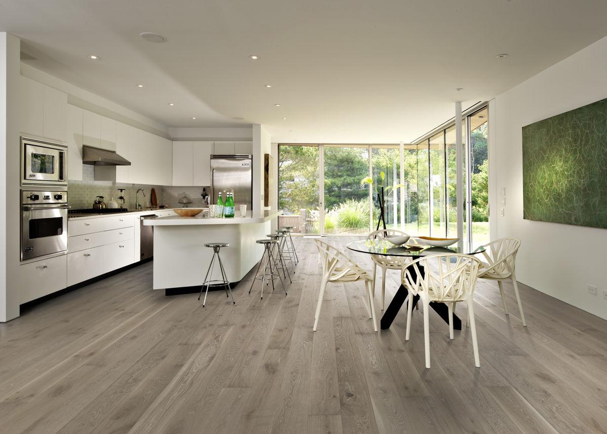 Kahrs oak nouveau gray engineered wood flooring for Kitchen 0 finance deals