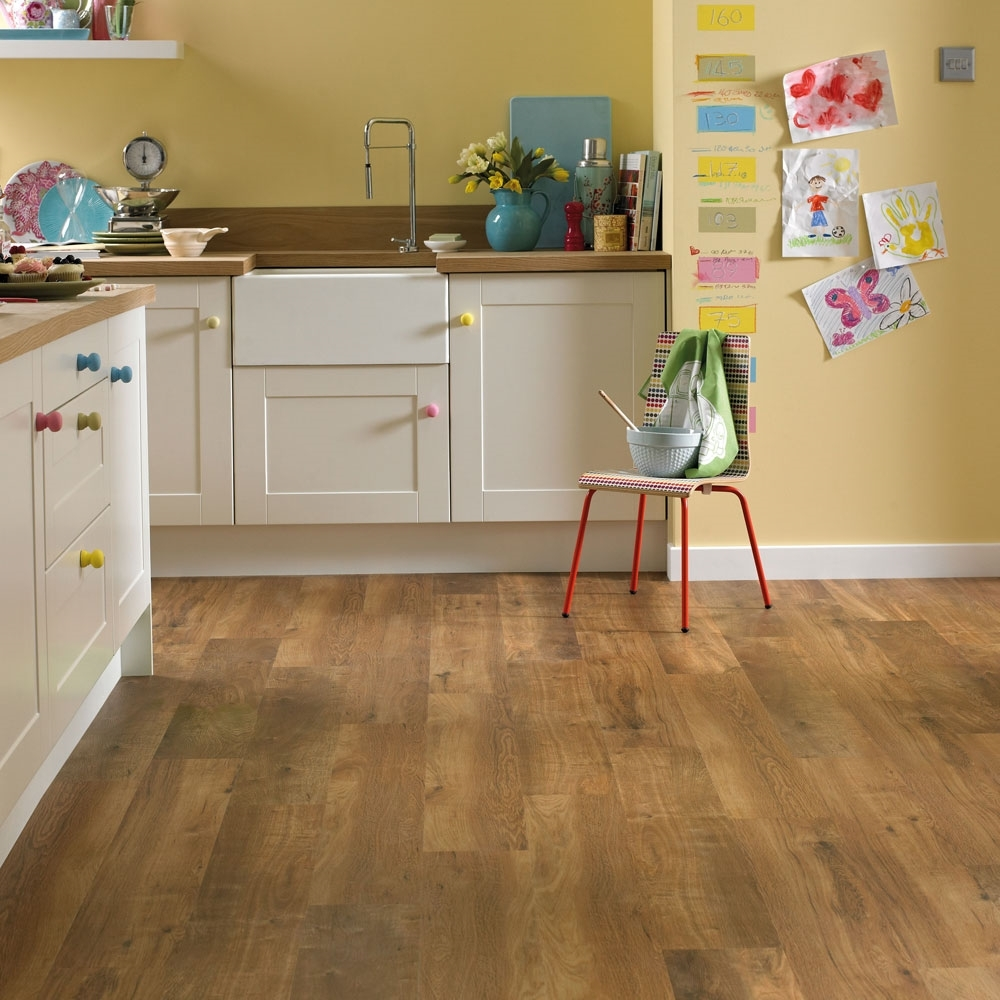 Karndean van gogh classic oak vgw86t vinyl flooring for Kitchen flooring ideas uk