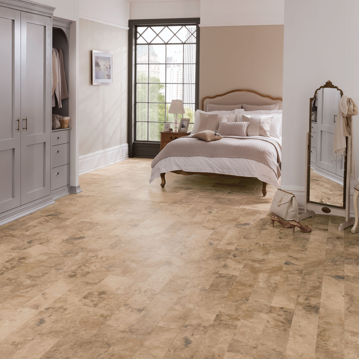 Karndean art select caldera lm18 vinyl flooring for Floor covering ideas for bedrooms