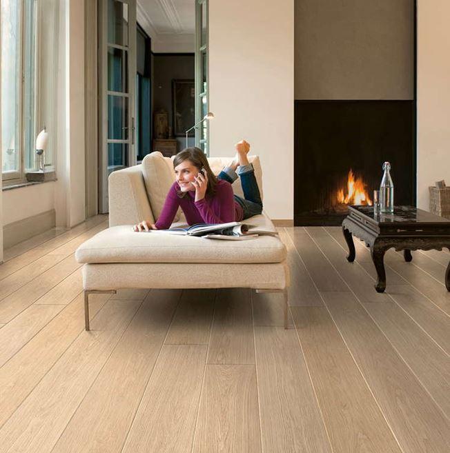 Quickstep Largo White Varnished Oak LPU1283 Laminate Flooring