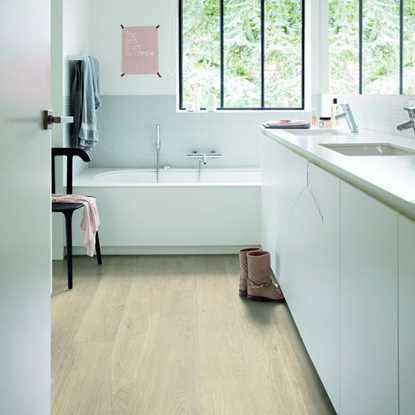 Quickstep Livyn Pulse Sea Breeze Oak Beige Vinyl Flooring