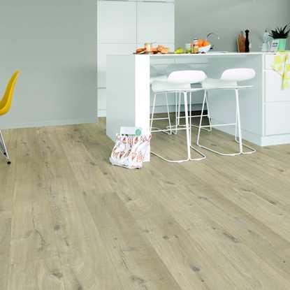 Quickstep Livyn Pulse Cotton Oak Beige Vinyl Flooring