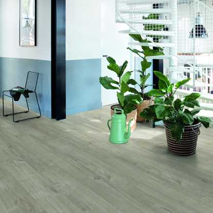 Quickstep Livyn Pulse Cotton Oak Warm Grey Vinyl Flooring