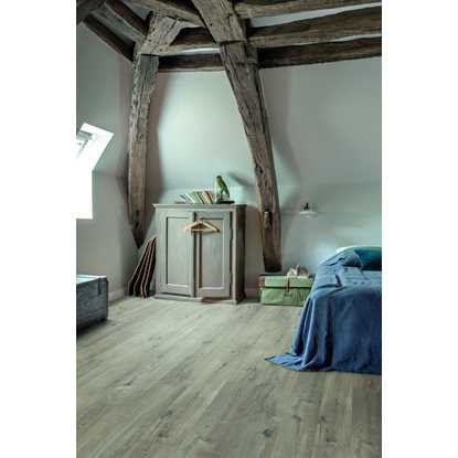 Quickstep Livyn Pulse Cotton Oak Grey with Saw Cuts Vinyl Flooring
