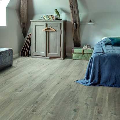 Quickstep Livyn Pulse Cotton Oak Grey with Saw Cuts Vinyl Flooring
