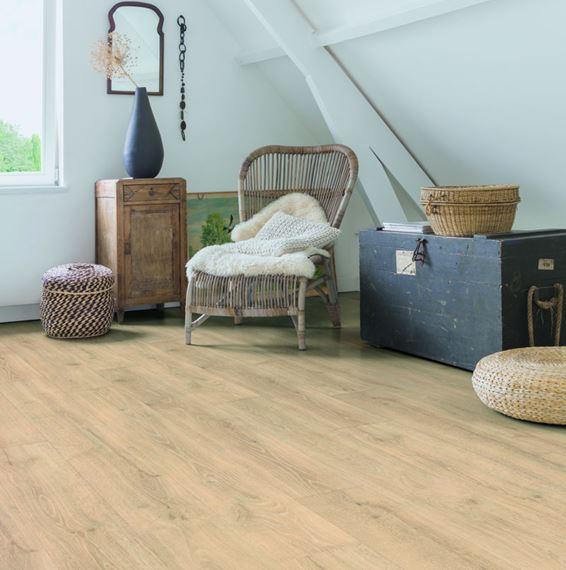 Quickstep Majestic Woodland Oak Beige, Woodland Laminate Flooring