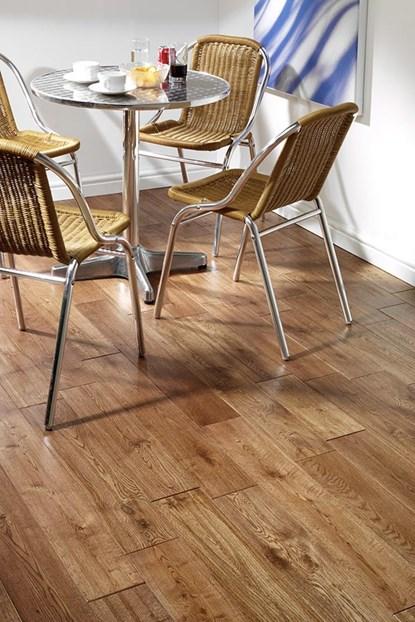Natura 130mm Golden Oak Hand Distressed Solid Wood Flooring