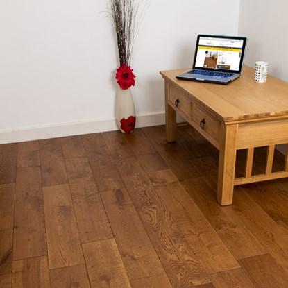 Natura 150mm European Solid Oak Bronze Antique Wood Flooring - Solid Wood Flooring Solid Floors FlooringSupplies.co.uk