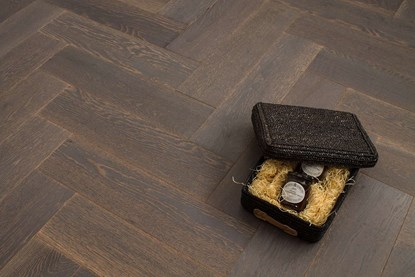 Natura Oak Sky Grey Herringbone Engineered Parquet