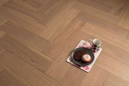 Natura Oak Titanium Grey Herringbone Engineered Parquet