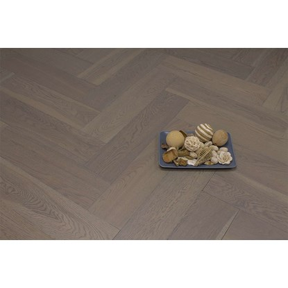 Natura Oak Truffle Grey Herringbone Engineered Parquet