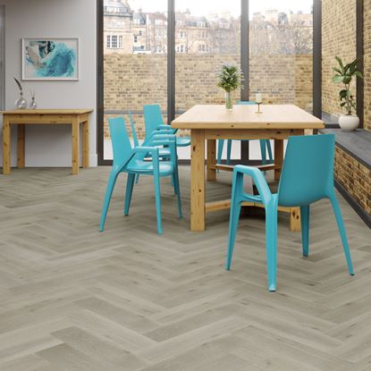 Oak Clay Grey Herringbone Engineered Parquet
